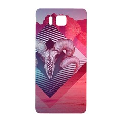 Horns Background Cube  Samsung Galaxy Alpha Hardshell Back Case by amphoto