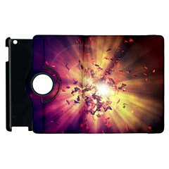Shards Explosion Energy  Apple Ipad 2 Flip 360 Case by amphoto