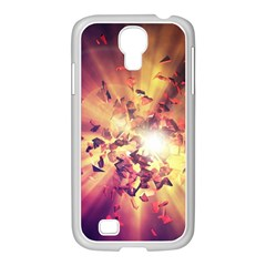 Shards Explosion Energy  Samsung Galaxy S4 I9500/ I9505 Case (white) by amphoto