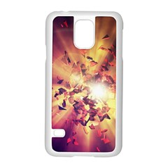 Shards Explosion Energy  Samsung Galaxy S5 Case (white) by amphoto