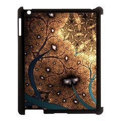 Line Pattern Shape  Apple Ipad 3/4 Case (black) by amphoto