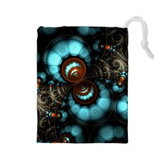Spiral Background Form 3840x2400 Drawstring Pouches (large)  by amphoto