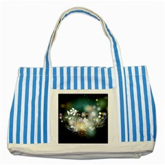 Abstraction Color Pattern 3840x2400 Striped Blue Tote Bag by amphoto
