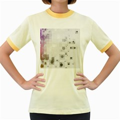 Squares Colorful Spots  Women s Fitted Ringer T Shirts by amphoto