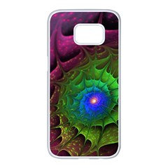 Immersion Light Color  Samsung Galaxy S7 Edge White Seamless Case by amphoto