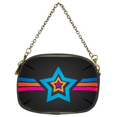 Star Background Colorful  Chain Purses (two Sides)  by amphoto