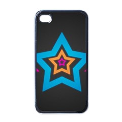 Star Background Colorful  Apple Iphone 4 Case (black) by amphoto