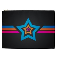 Star Background Colorful  Cosmetic Bag (xxl)  by amphoto