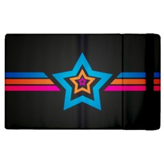 Star Background Colorful  Apple Ipad 3/4 Flip Case by amphoto