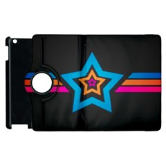 Star Background Colorful  Apple Ipad 2 Flip 360 Case by amphoto