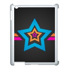 Star Background Colorful  Apple Ipad 3/4 Case (white) by amphoto
