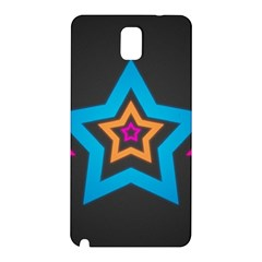 Star Background Colorful  Samsung Galaxy Note 3 N9005 Hardshell Back Case by amphoto