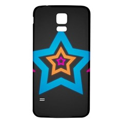 Star Background Colorful  Samsung Galaxy S5 Back Case (white) by amphoto