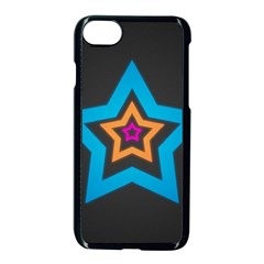 Star Background Colorful  Apple Iphone 7 Seamless Case (black) by amphoto