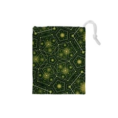 Shape Surface Patterns  Drawstring Pouches (small)  by amphoto