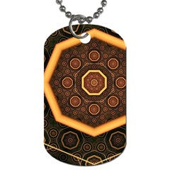 Light Surface Lines  Dog Tag (one Side) by amphoto