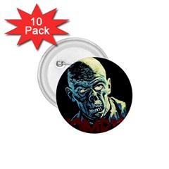 Zombie 1 75  Buttons (10 Pack) by Valentinaart