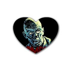 Zombie Rubber Coaster (heart)  by Valentinaart