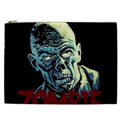 Zombie Cosmetic Bag (xxl)  by Valentinaart