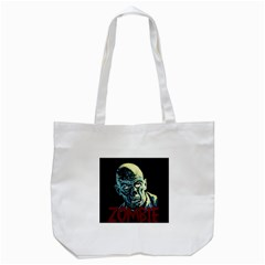 Zombie Tote Bag (white) by Valentinaart