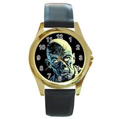 Zombie Round Gold Metal Watch