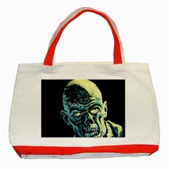 Zombie Classic Tote Bag (red) by Valentinaart