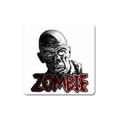 Zombie Square Magnet by Valentinaart