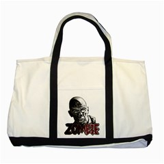 Zombie Two Tone Tote Bag by Valentinaart