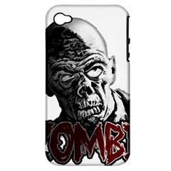 Zombie Apple Iphone 4/4s Hardshell Case (pc+silicone)
