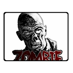 Zombie Double Sided Fleece Blanket (small)  by Valentinaart