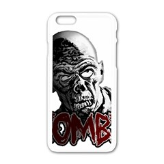 Zombie Apple Iphone 6/6s White Enamel Case by Valentinaart