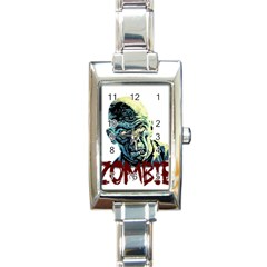 Zombie Rectangle Italian Charm Watch by Valentinaart