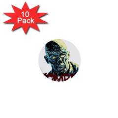 Zombie 1  Mini Buttons (10 Pack)  by Valentinaart