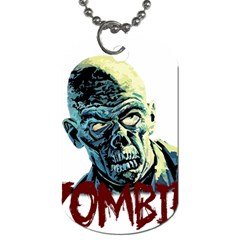 Zombie Dog Tag (one Side) by Valentinaart