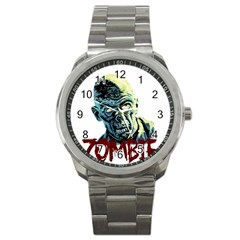 Zombie Sport Metal Watch by Valentinaart