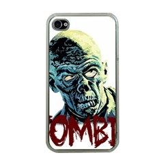 Zombie Apple Iphone 4 Case (clear)