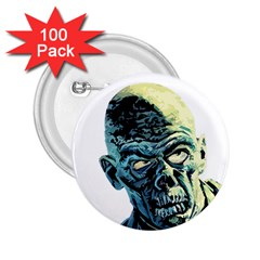 Zombie 2 25  Buttons (100 Pack)  by Valentinaart