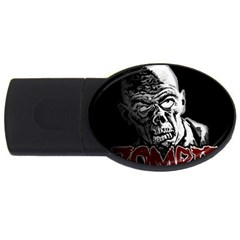 Zombie Usb Flash Drive Oval (4 Gb) by Valentinaart