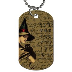 Witchcraft Vintage Dog Tag (two Sides) by Valentinaart