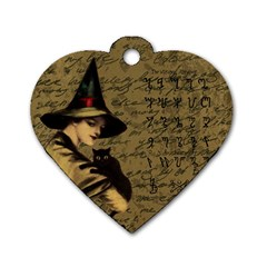 Witchcraft Vintage Dog Tag Heart (one Side) by Valentinaart