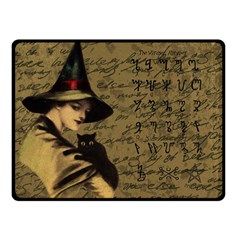 Witchcraft Vintage Double Sided Fleece Blanket (small)  by Valentinaart