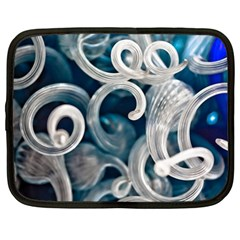 Spiral Glass Abstract  Netbook Case (large) by amphoto