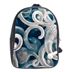 Spiral Glass Abstract  School Bag (large) by amphoto