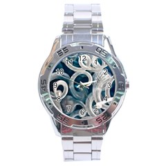 Spiral Glass Abstract  Stainless Steel Analogue Watch by amphoto