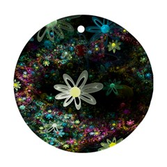 Flowers Fractal Bright 3840x2400 Ornament (round) by amphoto