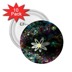 Flowers Fractal Bright 3840x2400 2 25  Buttons (10 Pack)  by amphoto