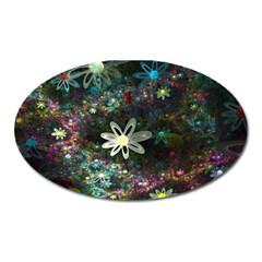 Flowers Fractal Bright 3840x2400 Oval Magnet by amphoto