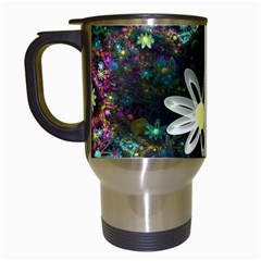 Flowers Fractal Bright 3840x2400 Travel Mugs (white) by amphoto