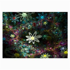 Flowers Fractal Bright 3840x2400 Large Glasses Cloth by amphoto