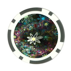 Flowers Fractal Bright 3840x2400 Poker Chip Card Guard by amphoto
